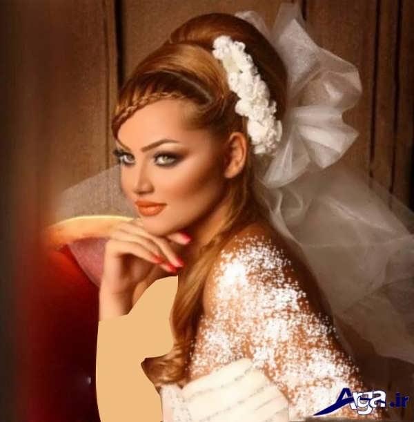 آرایش موی عروس ایرانی به صورت بسته
