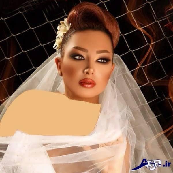 مدل مو و آرایش صورت عروس ایرانی