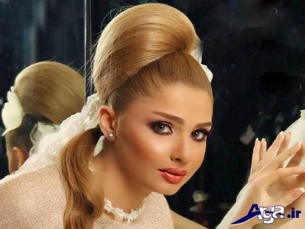 شینیون زیبا و جذاب عروس ایرانی
