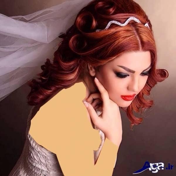 آرایش موی عروس به شکل باز