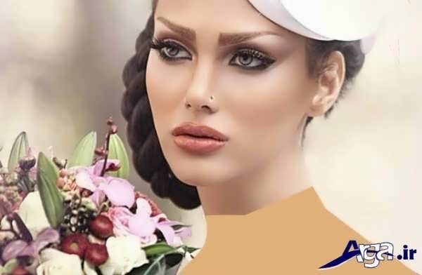مدل آرایش ملایم و لایت عروس