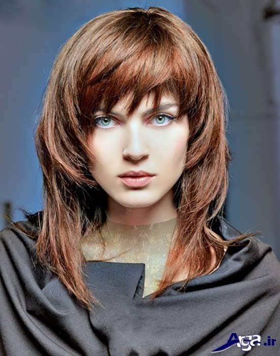 مدل موی بلند دخترانه برای صورت های کشیده
