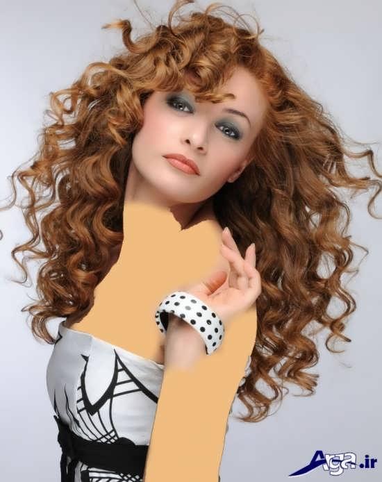 مدل موی بلندذ زیبا برای موهای فر