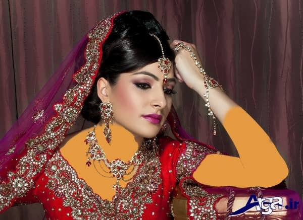 مدل مو و آرایش عروس به سبک هندی