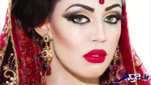 مدل های متنوع و زیبا آرایش هندی