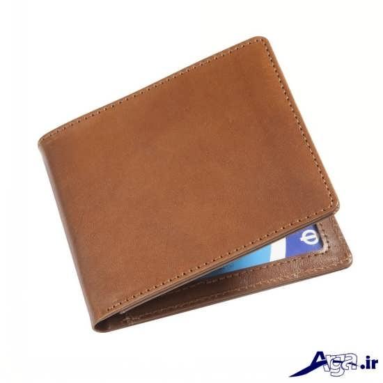 کیف پول چرم ساده مردانه