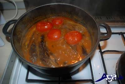 خورشت قیمه بادمجان پخته شده