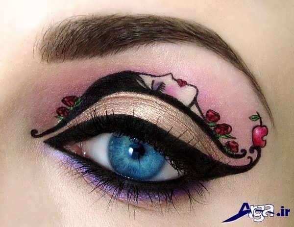خط چشم با طرح دختر