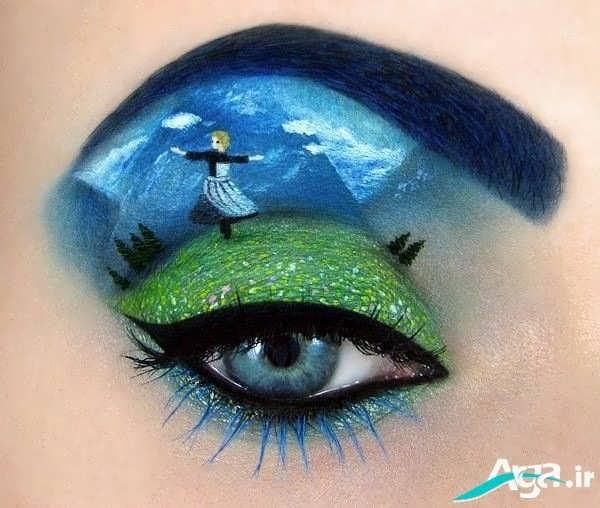 طراحی بر روی پلک چشم