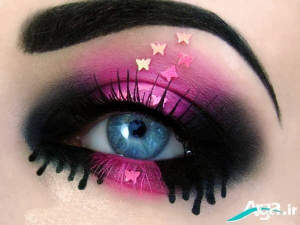 طراحی بر روی پلک چشم به شکل ستاره