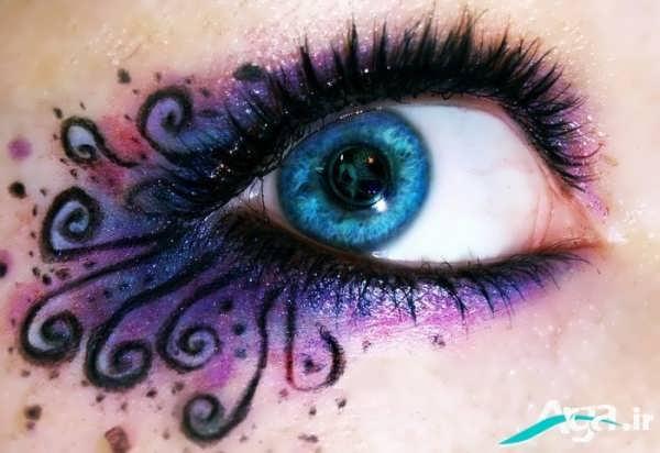 مدل سایه چشم برای چشم های آبی
