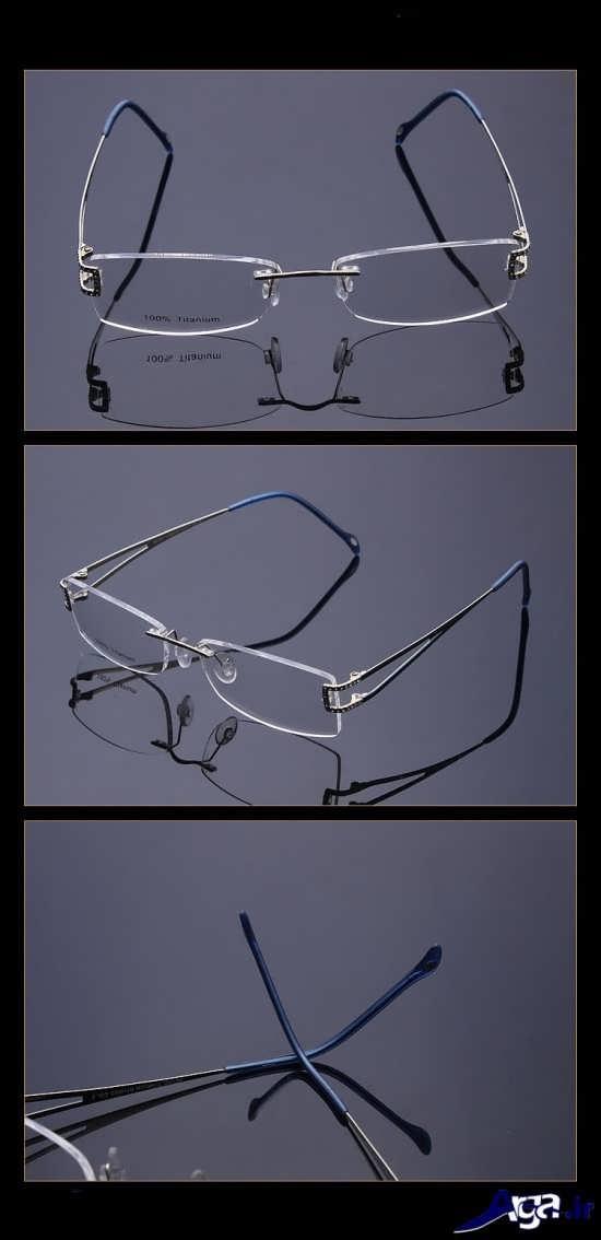 عینک طبی با دسته های رنگی