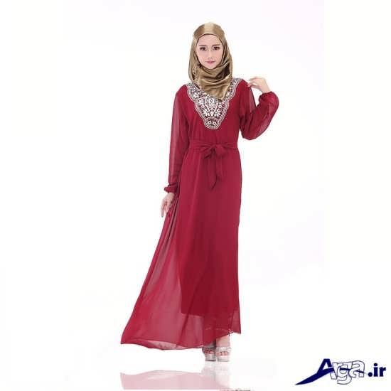 طرح ساده و زیبا لباس نامزدی پوشیده