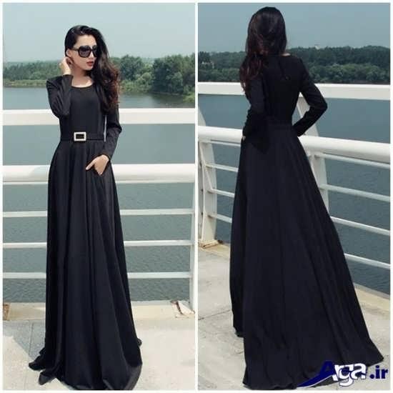 مدل لباس نامزدی پوشیده کمری دار