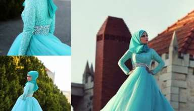 مدل لباس نامزدی پوشیده در طرح های مختلف و زیبا