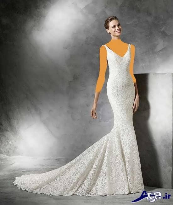لباس عروس دنباله دار 2016