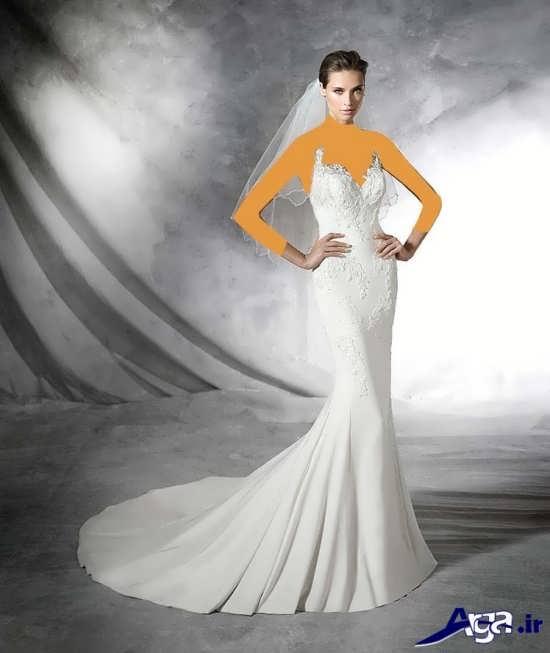 مدل لباس عروس با تن پوش عالی