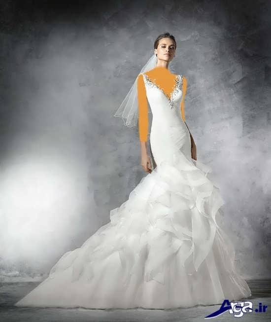 مدل لباس عروس با طراحی مدرن و زیبا