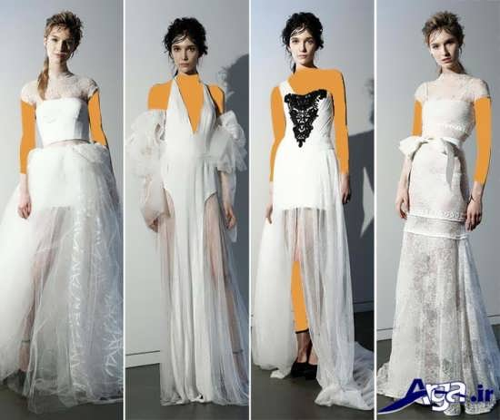 مدل لباس عروس با طراحی مدرن