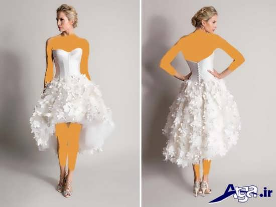 لباس عروس کوتاه 2016