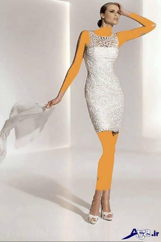 لباس عروس کوتاه زیبا و شیک