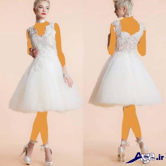 مدل لباس عروس 2016 با طرح کوتاه