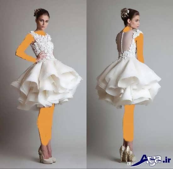 لباس عروس سفید کوتاه