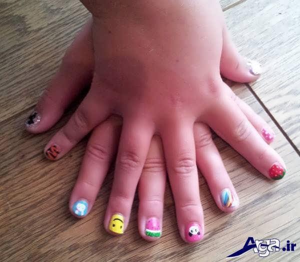 مدل طراحی ناخن کودکان با طرح های خلاقانه