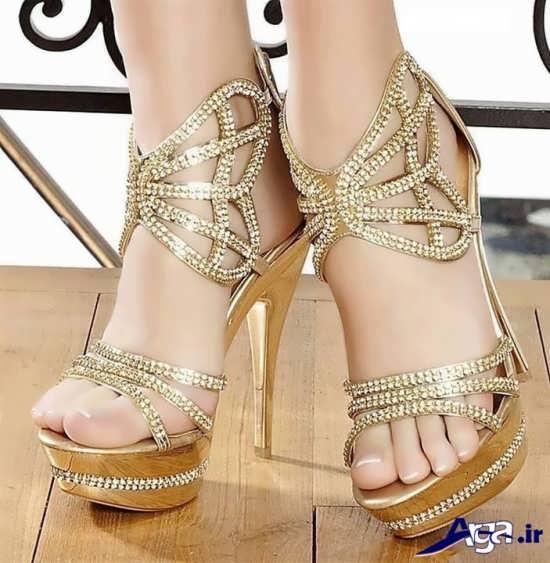 مدل کفش عروس با پاشنه بلند
