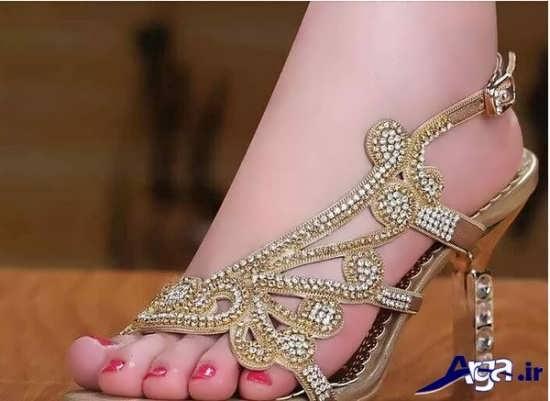 مدل کفش رنگی عروس