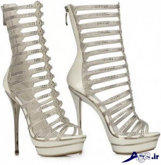 کفش ساق دار و پاشنه بلند عروس