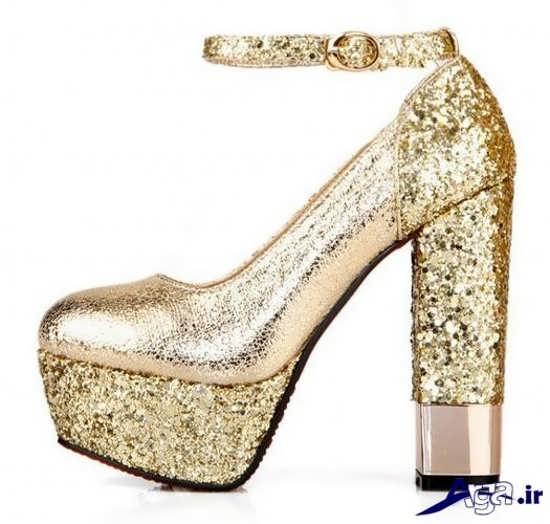 مدل کفش عروس با پاشنه های قطور و بلند