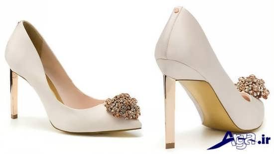 مدل کفش عروس با طراحی ساده و زیبا