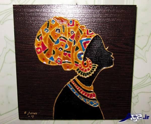 نقاشی ویترا روی چوب