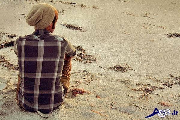 عکس مرد تنها و غمگین
