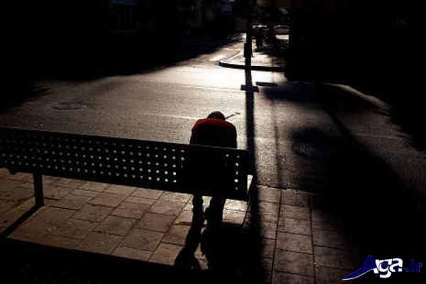 عکس با احساس مرد تنها