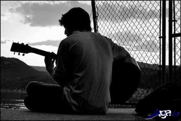 عکس جدید مرد تنها و غمگین