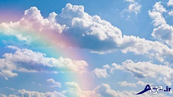 آسمان با رنگین کمان