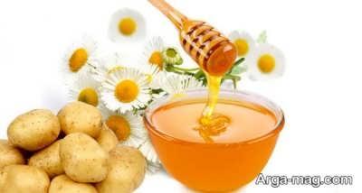 ماسک سیب زمینی و عسل