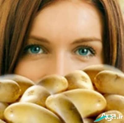 ماسک طبیعی سیب زمینی برای درمان جوش صورت