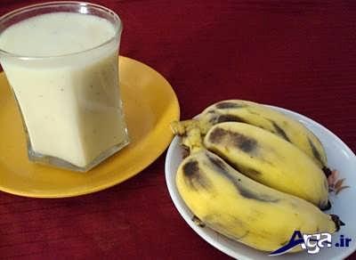 طرز تهیه شیر موز خوش طعم