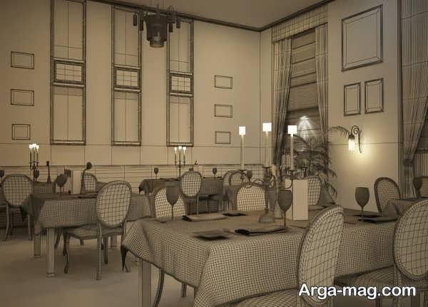 طراحی خاص رستوران کلاسیک