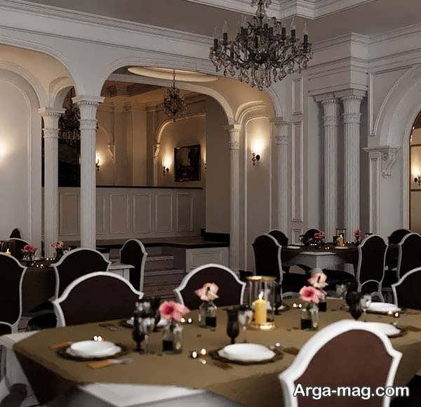 مناسب ترین طراحی رستوران کلاسیک