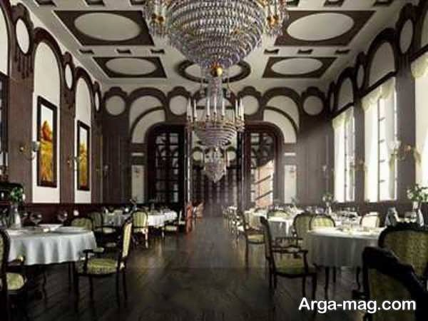 طراحی بی نظیر رستوران کلاسیک
