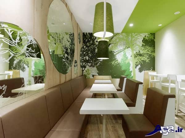 چیدمان رستوران جدید و زیبا