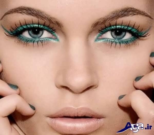 آرایش چشم ساده برای چشم های سبز