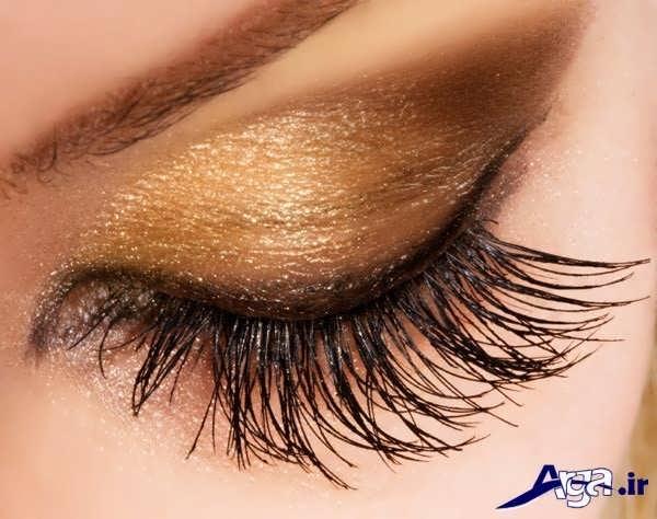 مدل زیبا و شیک سایه طلایی برای میکاپ چشم