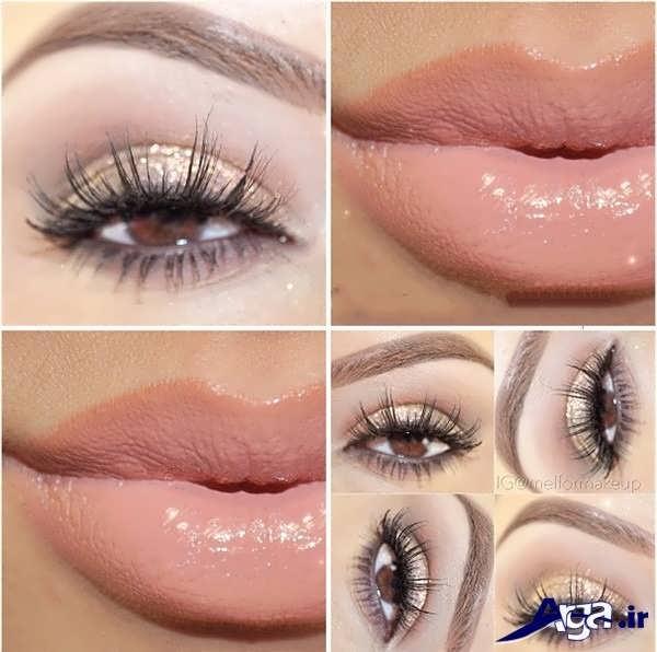 آرایش چشم ساده بدون استفاده از خط چشم