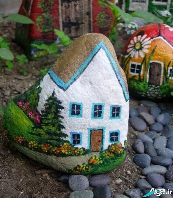 کاردستی خلاقانه با سنگ