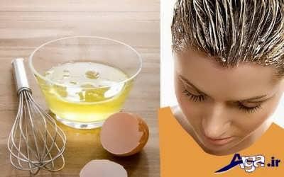 ماسک موی سفیده تخم مرغ برای رشد سریع مو